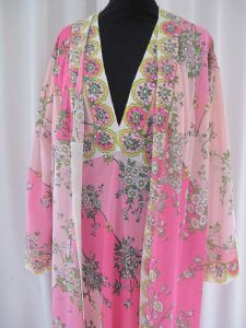 1960's PUCCI Pink hostess/loungewear 2 piece *sold* Es